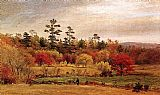 Jasper Francis Cropsey Conversation at the Fence painting