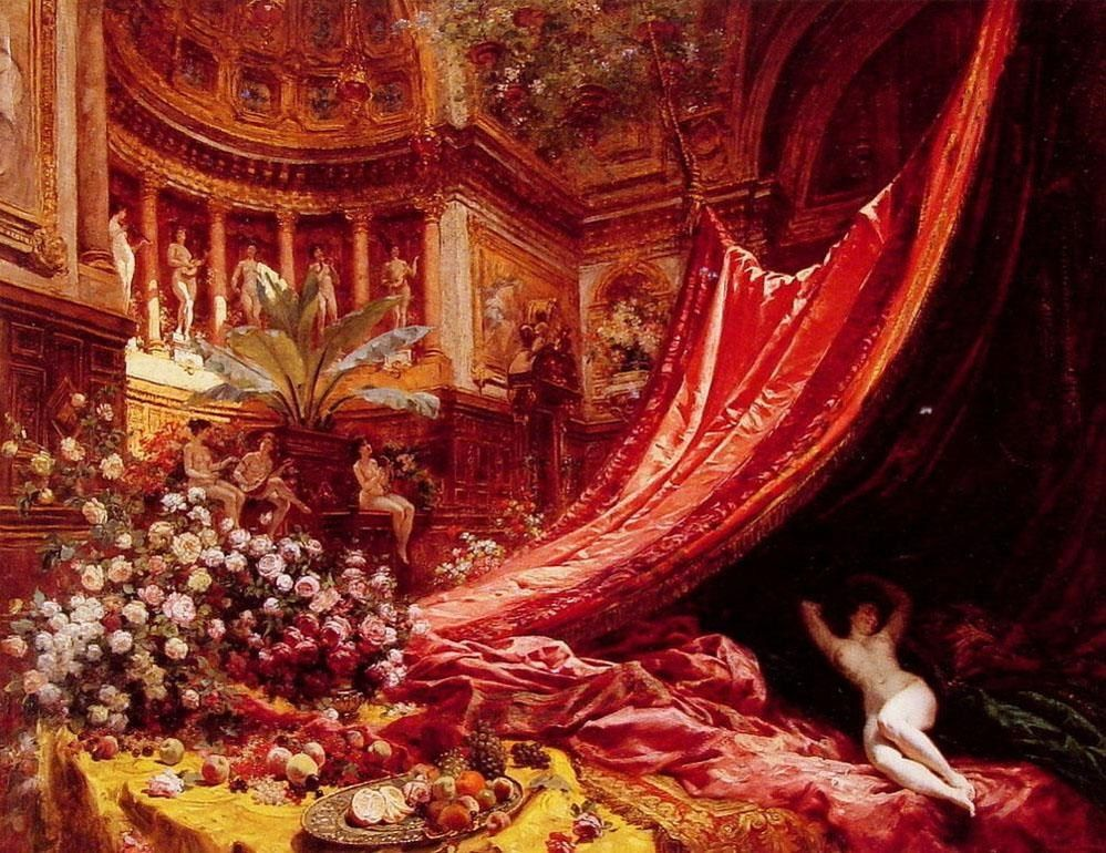 Jean Beraud Symphony in Red and Gold