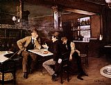 Jean Beraud At the Bistro painting