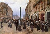 Street paintings - La Rue de la Paix by Jean Beraud