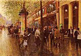 Jean Beraud The Great Boulevard painting