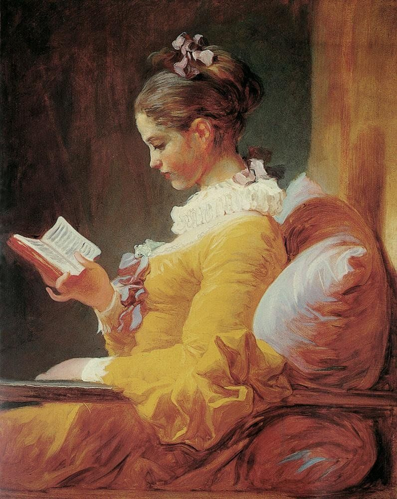 Jean Fragonard Young Girl Reading
