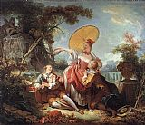 Jean Fragonard The Musical Contest painting
