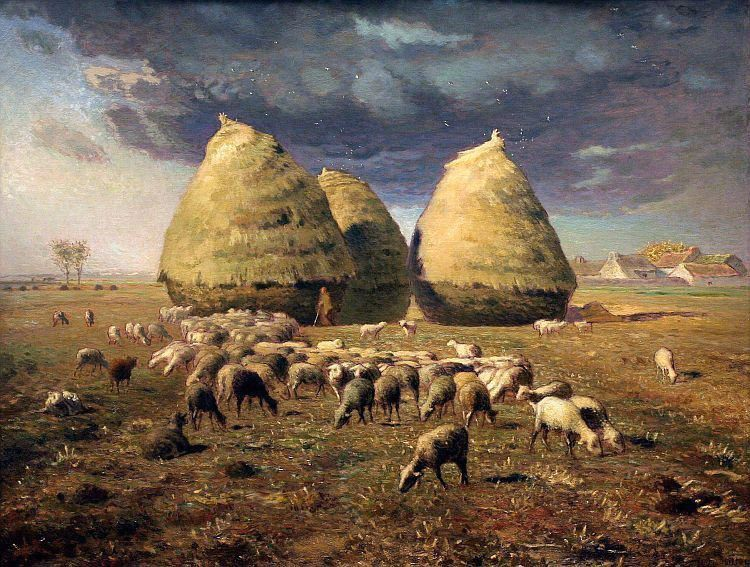 Jean Francois Millet Haystacks Autumn