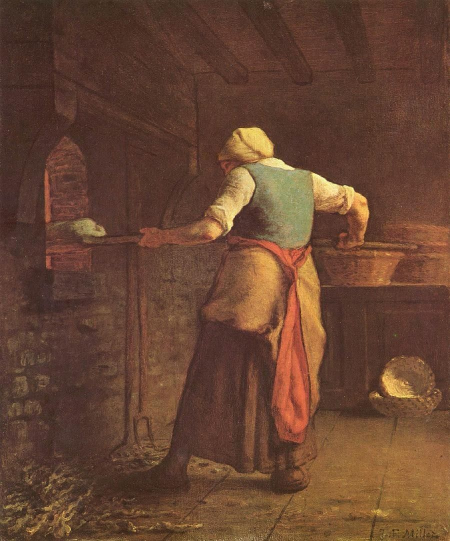 Jean Francois Millet Woman Baking Bread
