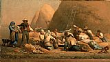 jean francois millet Paintings - Harvesters Resting