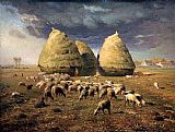 Jean Francois Millet Haystacks Autumn painting