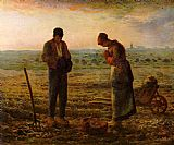 jean francois millet Paintings - The Angelus