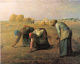 jean francois millet Paintings - The Gleaners