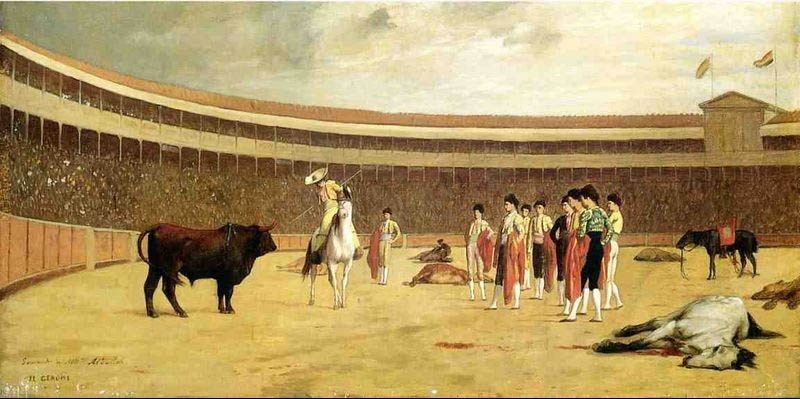 Jean-Leon Gerome Bull and Picador