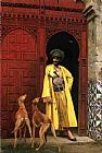 mad dogs Framed Prints - An Arab And His Dogs