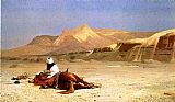 Jean-Leon Gerome An Arab and His Horse in the Desert painting