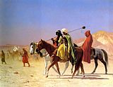 Jean-Leon Gerome Arabs Crossing the Desert painting