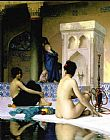 Jean-Leon Gerome Bathing Scene painting