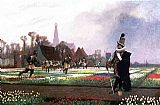 Jean-Leon Gerome Duel among the Tulips painting
