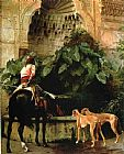 Jean-Leon Gerome Home from the Hunt painting