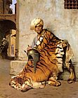 Jean-Leon Gerome Pelt Merchant of Cairo painting