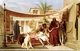 Jean-Leon Gerome Socrates seeking Alcibiades in the house of Aspasia painting