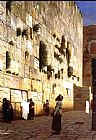 Jean-Leon Gerome Solomon's Wall Jerusalem (or The Wailing Wall) painting