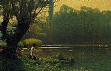lake como Paintings - Summer Afternoon on a Lake