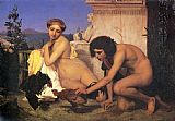 Jean-Leon Gerome The Cock Fight painting