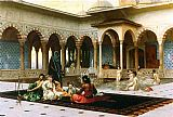 Jean-Leon Gerome The Harem on the Terrace painting