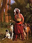 Hunting paintings - The Negro Master of the Hounds by Jean-Leon Gerome