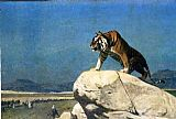 Jean-Leon Gerome Tiger On The Watch Ii painting