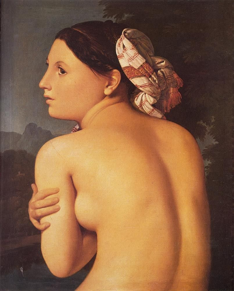 Jean Auguste Dominique Ingres Half-figure of a Bather