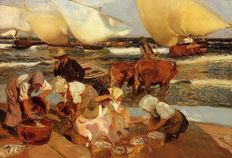 De arte em arte pinturas de pescadores em seus barcos de - Galeria de arte sorolla ...