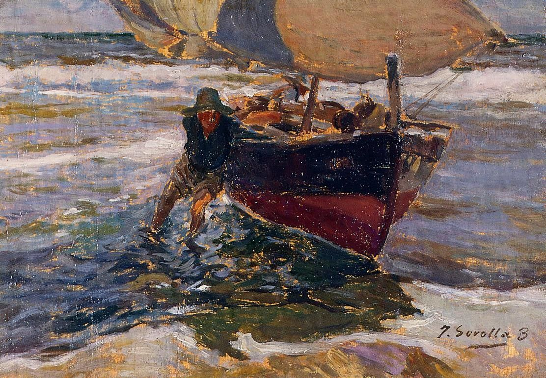 Joaquin Sorolla y Bastida Beaching the Boat