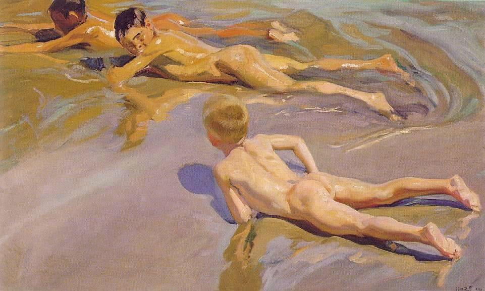 Joaquin Sorolla y Bastida Children on the Beach