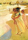 Joaquin Sorolla y Bastida Going for a Swim Valencia painting