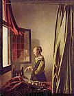 Johannes Vermeer Girl Reading a Letter at an Open Window painting