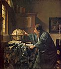 Johannes Vermeer The Astronomer painting