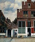 Street paintings - The Little Street by Johannes Vermeer