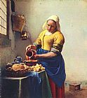 Johannes Vermeer the Milkmaid painting