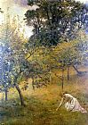 John Collier A Devonshire Orchard painting