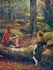 john collier Paintings - In the Forest of Arden
