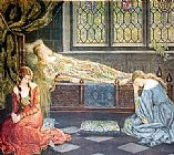 john collier Paintings - Sleeping Beauty