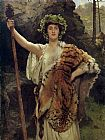 john collier Paintings - The Priestess of Bacchus