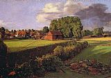 gathering summer flowers in a devonshire garden Paintings - Golding Constable's Flower Garden