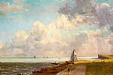 Lighthouse paintings - Harwich Lighthouse by John Constable