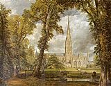 John Constable Salisbury Cathedral painting