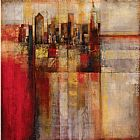 Abstract paintings - Plaid City by John Douglas