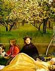 John Everett Millais Apple Blossoms Spring detail I painting