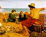 John Everett Millais The Boyhood of Raleigh painting