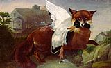 John James Audubon Fox And Goose painting