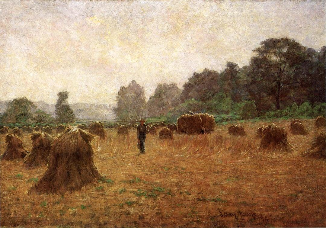 John Ottis Adams Wheat wain Afield
