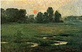 John Ottis Adams An August Sunset painting